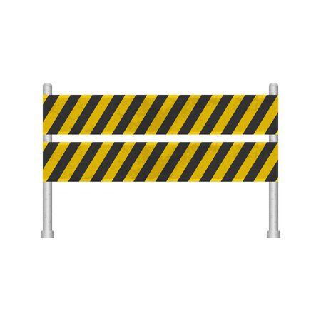 Under construction barrier set vector illustration  イラスト・ベクター素材