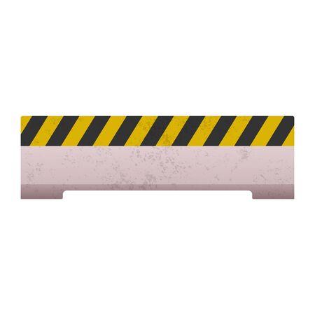 Under construction barrier set vector illustration Ilustração Vetorial