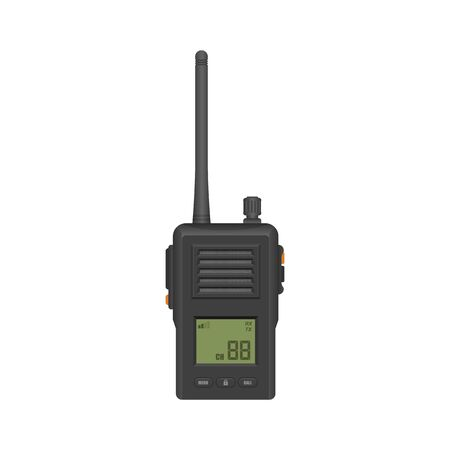 Walkie talkie vector illustration isolated on white background