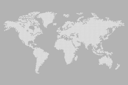 Dots world map vector illustration isolated  イラスト・ベクター素材