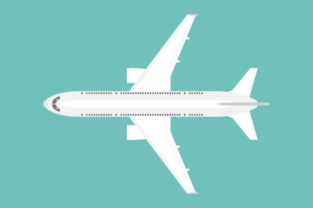 Top view of airplane vector illustration isolated