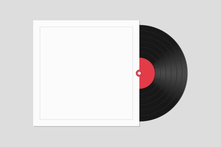 Vinyl record with cover vector illustration isolated