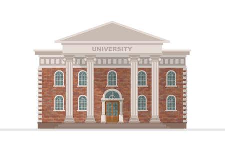 University building vector illustration isolated on white background