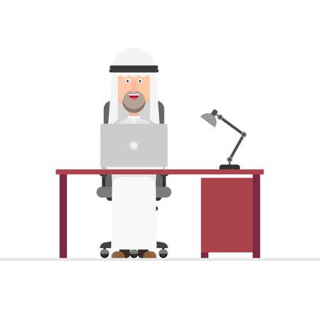 Arabian businessman working in the office Foto de archivo - 153686550