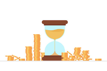 Time is money concept vector illustration Vectores