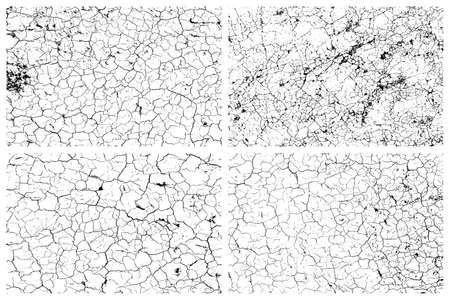 Dry cracked earth texture set