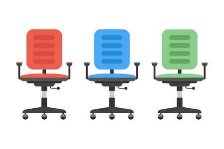 Office chair in different colors vector design