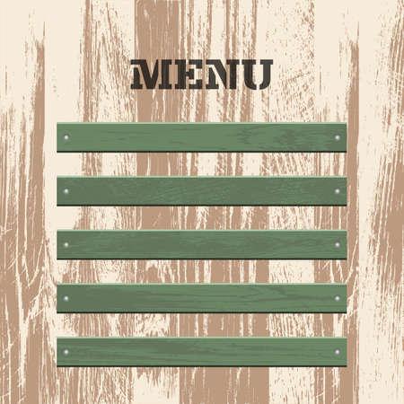 Vintage menu wood board vector design Vectores