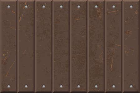 Rusty iron texture vector illustration