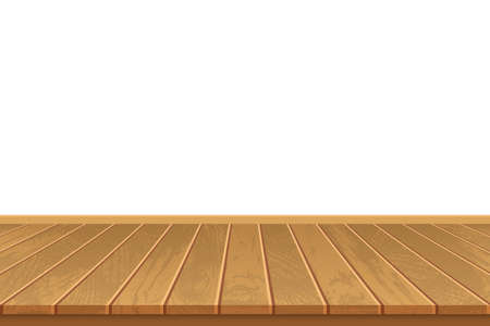 Realistic wooden floor on white background