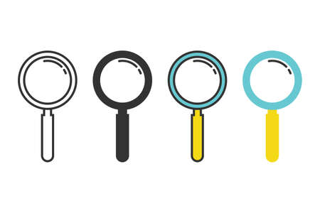 Set of magnifying glass icon vector illustration 矢量图像