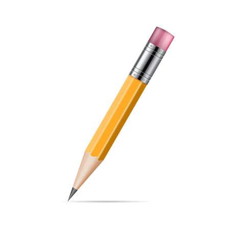 Realistic pencil vector illustration isolated on white background Ilustração