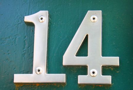 House address plate number 14