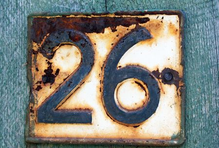House address plate number 26 Stock Photo