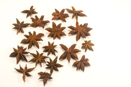 Star aniseed isolated on white