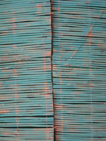 Detail of a reed matt photo