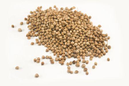 Coriander seeds isolated on white Stock fotó