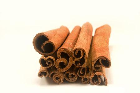 Cinnamon sticks isolated on white Stock fotó
