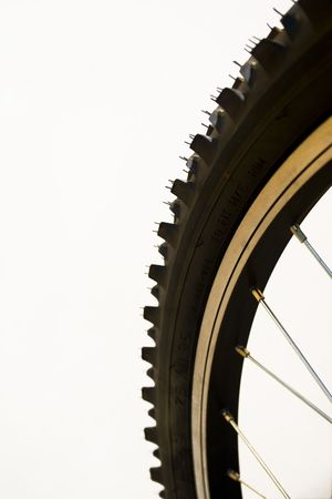 Close-up of a mountain bike tyre
