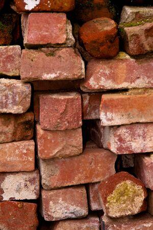 Close-up of a stack of used brick Reklamní fotografie