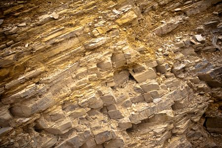 fragmented: Close-up of fragmented rock striations