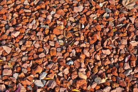 Closeup of red gravel Stock Photo - 5393618