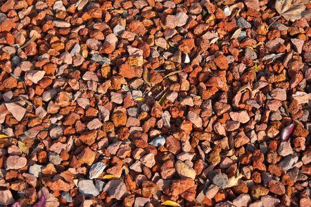 Closeup of red gravel Stock Photo - 5393618