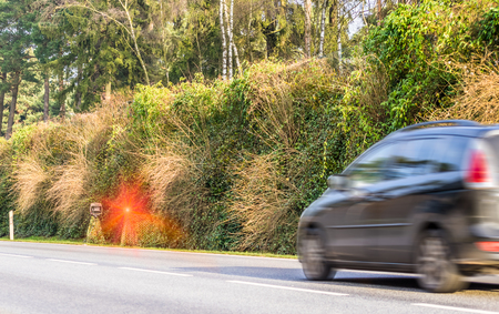 Flashed radar speeding speed camera