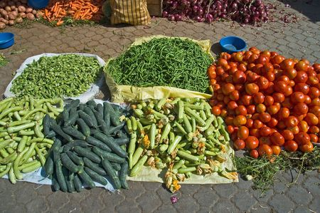 Fresh Vegetables in Marrakech market, Morroco