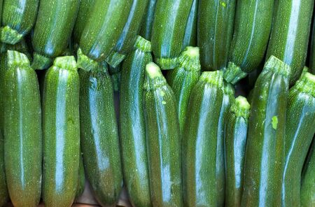 courgettes: ucchini (courgettes) in market Stock Photo