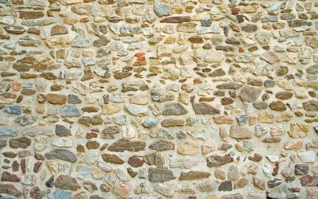 Old Rock wall texture on building exterior
