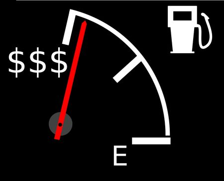 Illustration showing the current rising gasfuel prices illustration