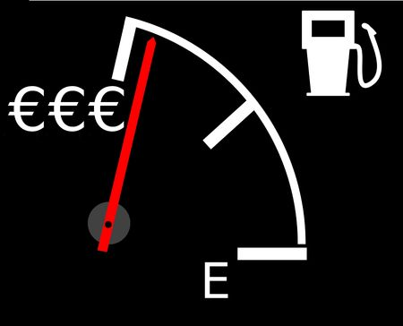 Illustration showing the current rising gasfuel prices