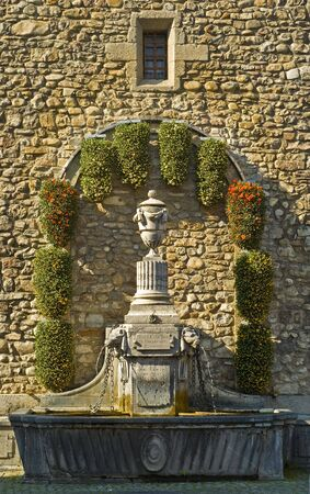 vevey: Small Fountain in Vevey, Switzerland
