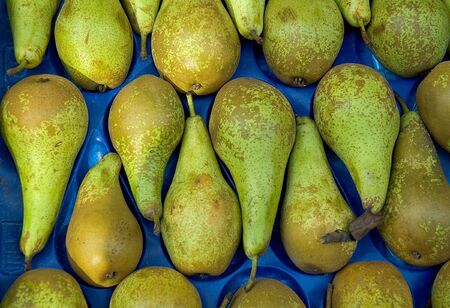 Fresh Organic Pears in Market