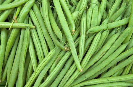 Fresh French Green Beans In Market