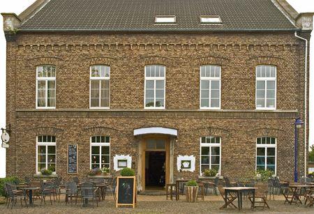 Old German Brick Pub with beer garden