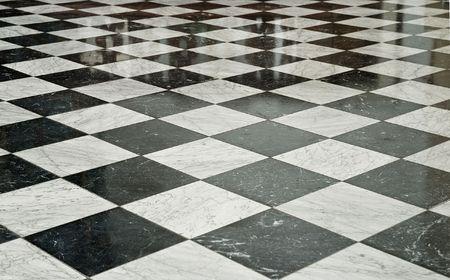 Zwart-wit marmer Floor