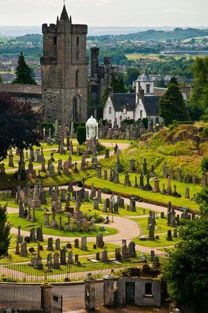 Graveyard/cemetery near Stirling castle, Scotland