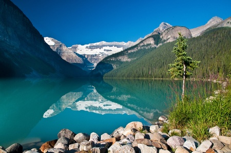 Lake Louise, Banff National Park, Alebrta, Canada Stock Photo