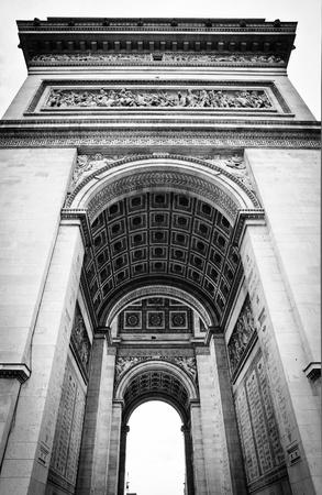 Underneath the historic Arc de Triomphe in Paris