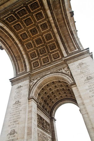 Underneath the historic Arc de Triomphe in Paris