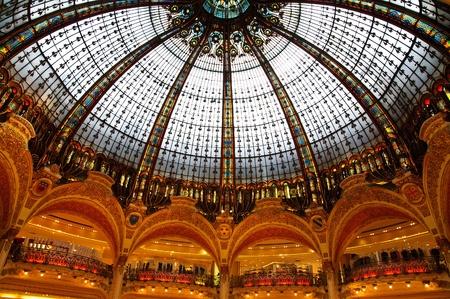 Inside the Lafayette luxury shopping mall in Paris