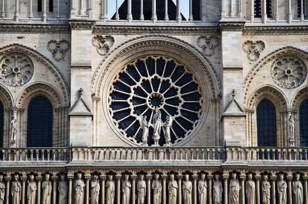 Close up of Notre Dame Cathedral in Paris