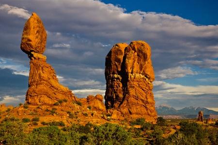 Balanced Rock Sunset, Arches National Park, Utah