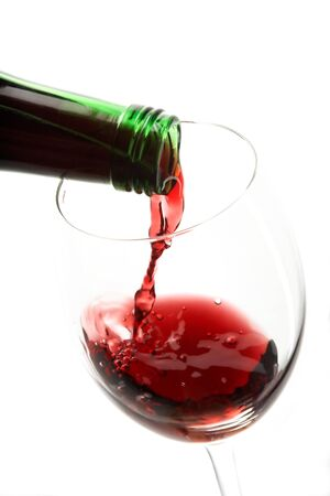 pervaded: still life with red wines Stock Photo