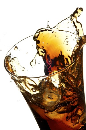 still life with cola on the white background;  Stock Photo