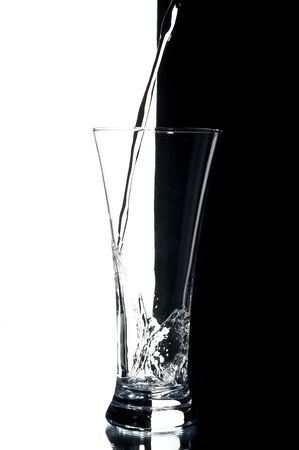 still life with water on the white background photo