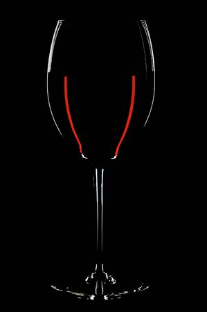 glass with red wines on the black background Stock Photo - 1743909