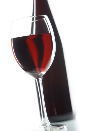 pervaded: still life with red wines on the white background